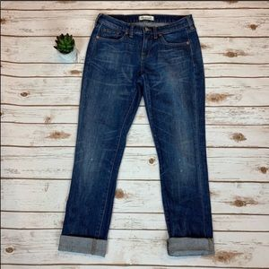 Madewell Medium Wash Slim Boyjean Denim Jeans